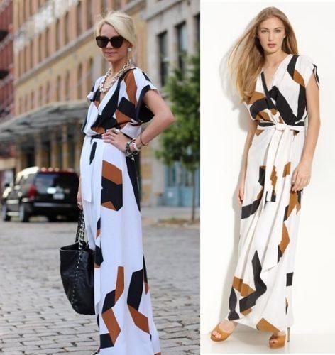 DVF - DIANE VON FURSTENBERG Ethyl Silk Maxi Dress Size 8 NWT ...