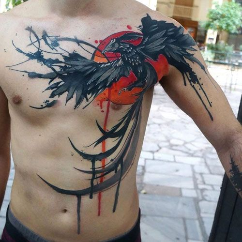 101 Best Phoenix Tattoos For Men Cool Design Ideas 2020 Guide Phoenix Tattoo For Men Tattoos For Guys Chest Tattoo Men