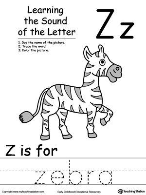 Learning Beginning Letter Sound: Z | The alphabet, Alphabet ...