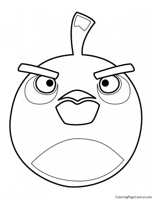 Angry Birds Bomb The Black Bird 01 Coloring Page Bird Coloring