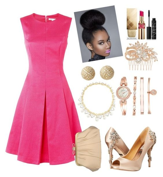 """""""Sweet 16"""" by danielle-nikita ❤ liked on Polyvore featuring Fenn Wright Manson, Badgley Mischka, Nina, Buccellati, Bony Levy, Yves Saint Laurent, NARS Cosmetics, Burberry, Anne Klein and women's clothing"""