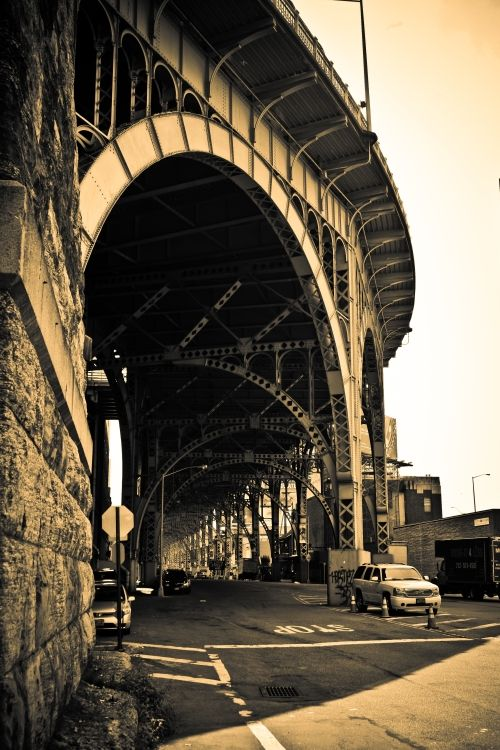 NYC. West Side Highway's 125th Street Overpass