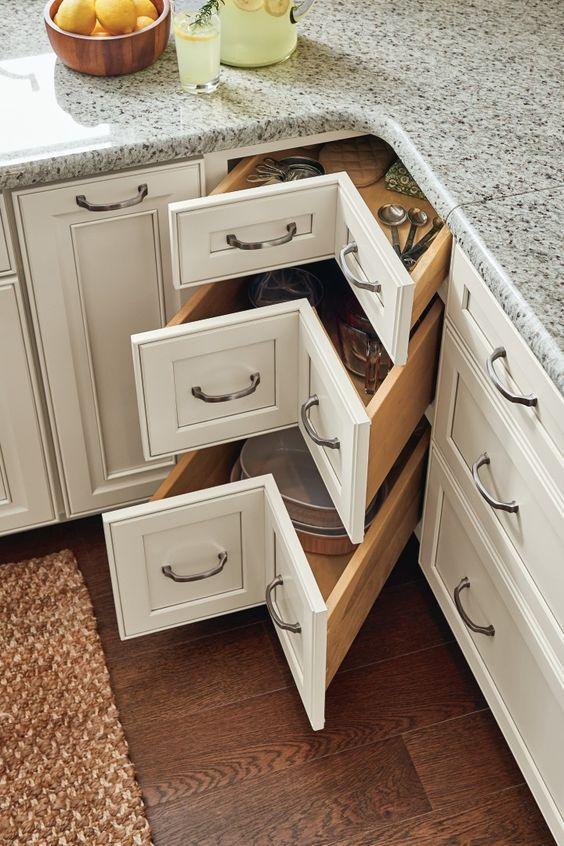 19 Kitchen Corner Cabinet Ideas Interiorforlife Com Kitchen