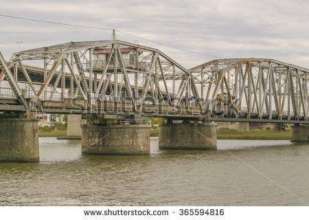 MONTEVIDEO, URUGUAY, MAY - 2015 - Bridge over the Santa Lucia river located in Santiago Vazquez, a small town located in the boundaries of Montevideo, Uruguay