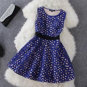 Sexy Fashion Hollow Pearl Dress