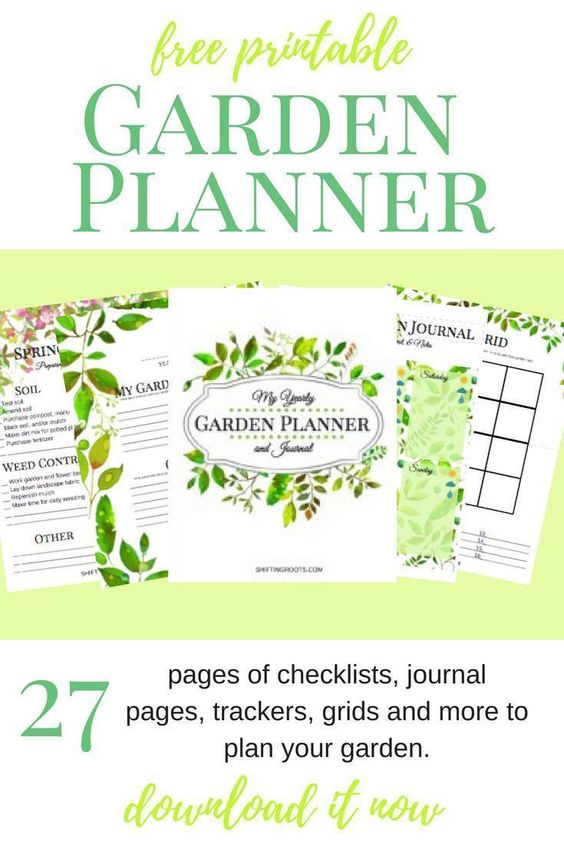 Spring is here and it's time to gather all your ideas for your next garden. If you're struggling to plan out your space, stay on budget, or keep all your ideas in one place, this free printable garden planner is for you. 27 pages of checklists, journal pages, planning grids and more to make your flower or vegetable gardening dreams a reality. #gardenplanner #gardening #spring #flowergarden #vegetablegarden #growfood #freeprintable