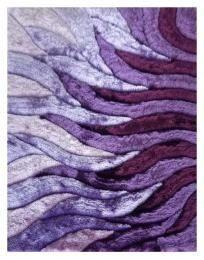 Area Rug Handmade Shaggy Purple Rug - 5x7 3 size of rugs are approximate may…