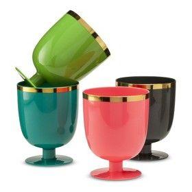 Oh Joy! Plastic Goblets 4ct - Assorted : Target Mobile