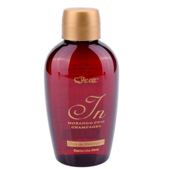 In Morango com Champagne Óleo de Massagem 60ml K-gel - Miess