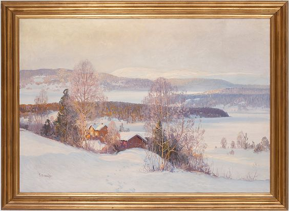 Oljemålning signerad CARL BRANDT. Was sold for 6700 Swedish crowns.