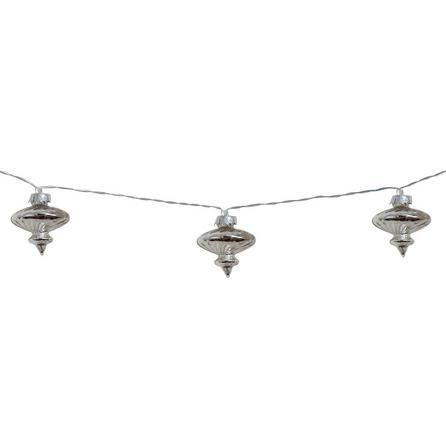 Mercury Glass 10 LED Chain Lights | Dunelm