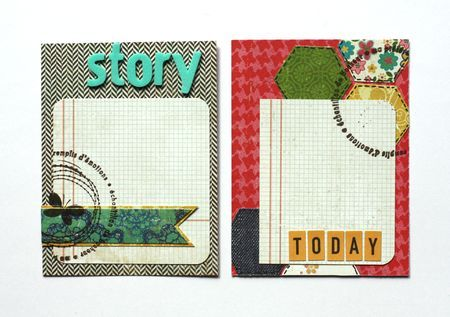I like these handmade journal cards.