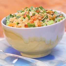 Quinoa Salad with Apricots and Pistachios Recipe by Cooking Light | Maypurr