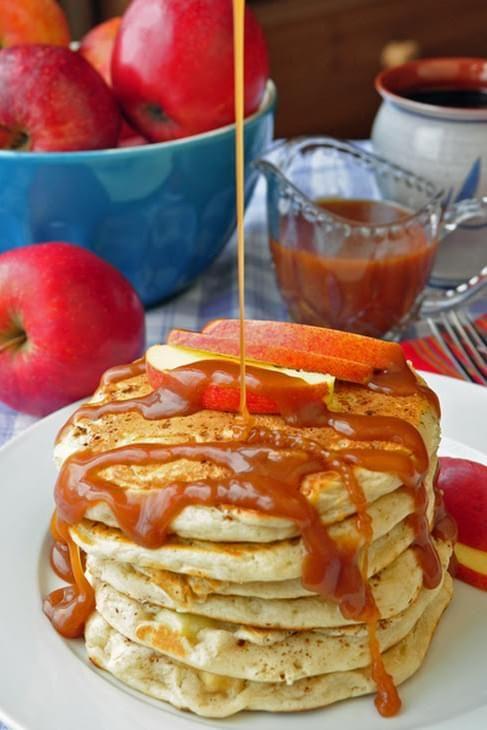 Caramel Apple Buttermilk Pancakes Recipe Recipe In 2020 Pancake Recipe Recipes Buttermilk Pancakes