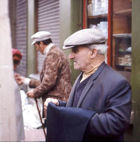 Trousers to suit? Cheshire Street Sunday Market, October 1973 (adjoining Brick Lane between Bethnal Green & Shoreditch)