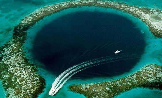 Natural wonders to see before they're lost! The Great Blue Hole in Belize.