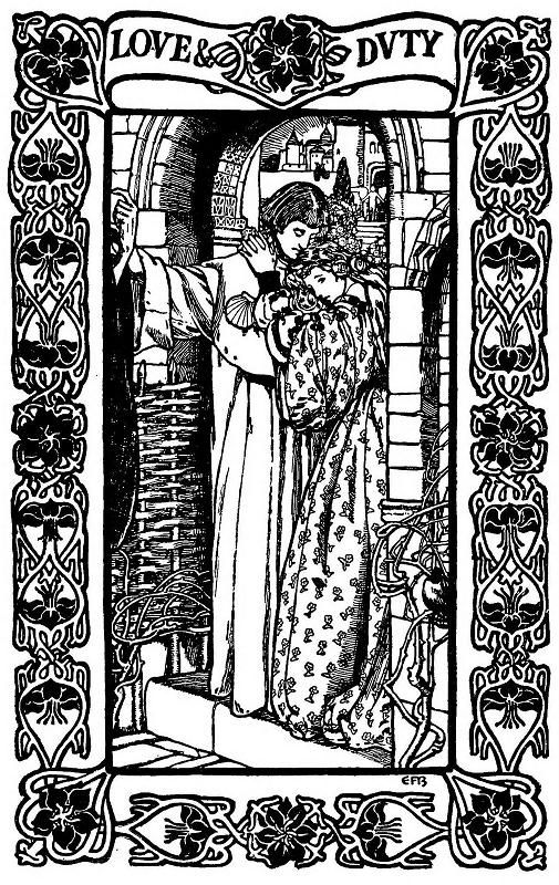 Poems by Alfred Lord Tennyson. Illustration by Eleanor Fortescue-Brickdale: