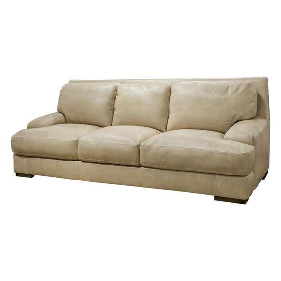 Leather Sofa in Longhorn Wheat   Nebraska Furniture Mart