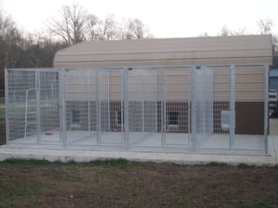 Kennel from carport could totally do this is as separate for Indoor outdoor dog kennel design