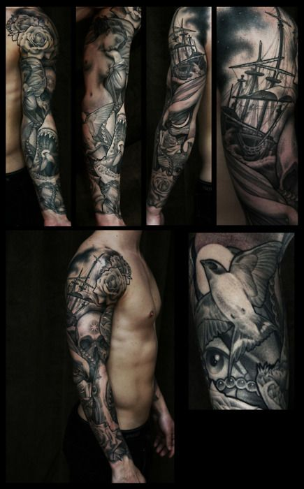 Beautiful sleeve and awesome on pinterest for Tattoo artist job description