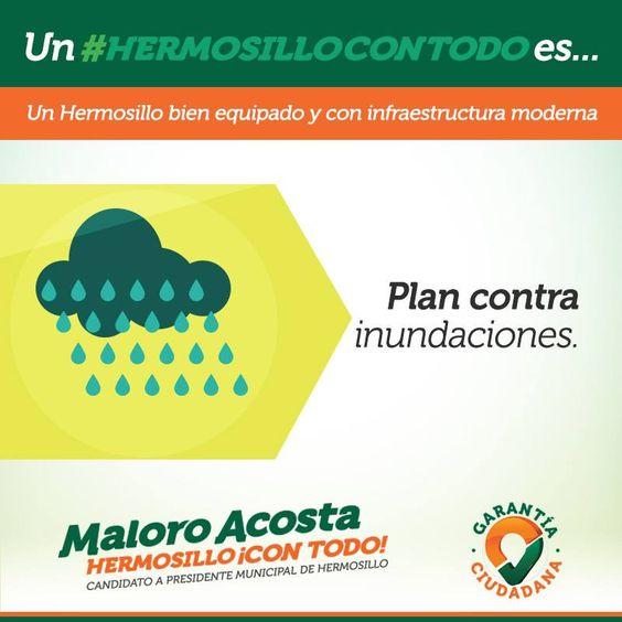Llevaremos a cabo obras estratégicas de drenaje pluvial para evitar las inundaciones en la ciudad#HermosilloConTodo