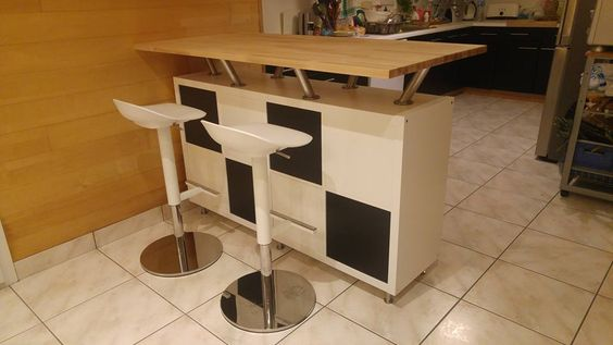 Bar cuisine ikea and consoles on pinterest - Console pour cuisine ...