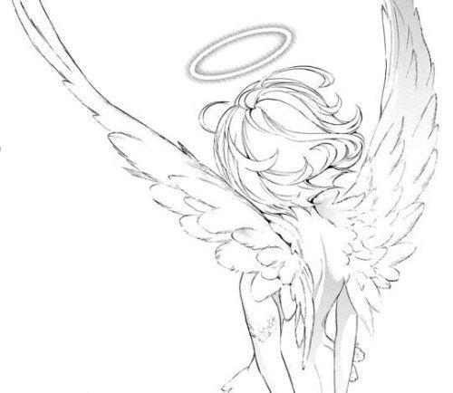Manga Girl With Wings Tumblr Angel Drawing Angel Manga Manga Drawing