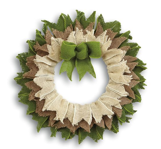 rag wreaths made with burlap of wire wreaths | burlap wreath