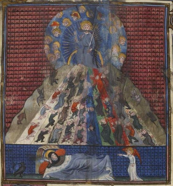 (1) TwitterJohan Oosterman ‏@JohanOosterman  3m3 minutes ago Even the rabits! All on their way to the Lord. Vision of Elisabeth de Schonau. ParisBNF Fr1792 @GallicaBnF
