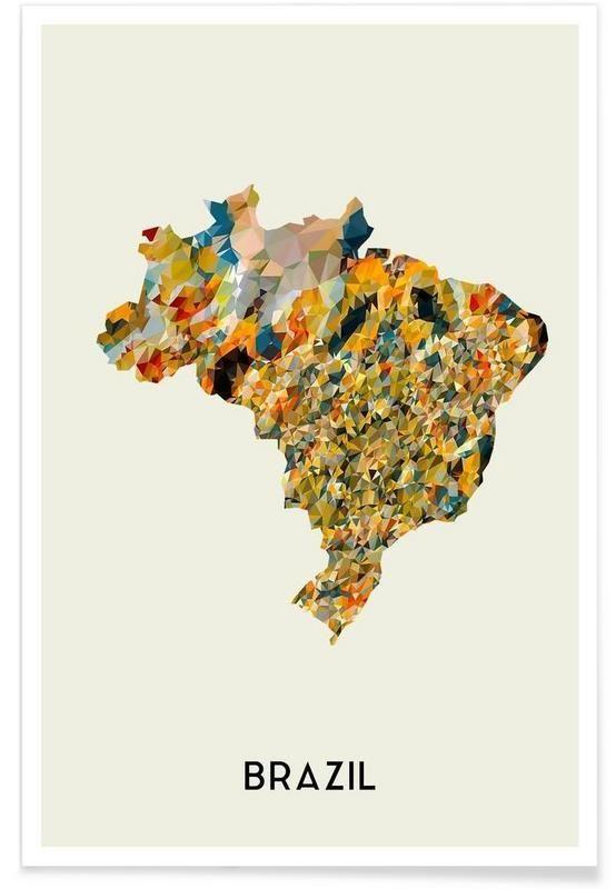 Brazil als Premium Poster von In Full Color | JUNIQE