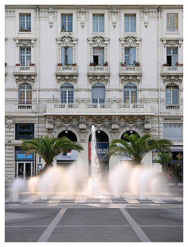 Fountains in Antibes, France