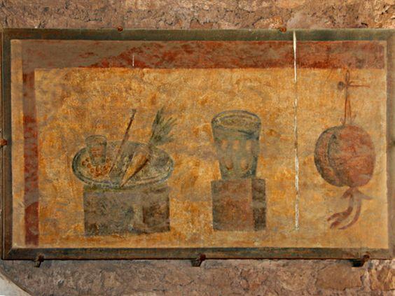 Toeletta ostia ~ Escena de banquete. roma catacumba de los santos pedro y