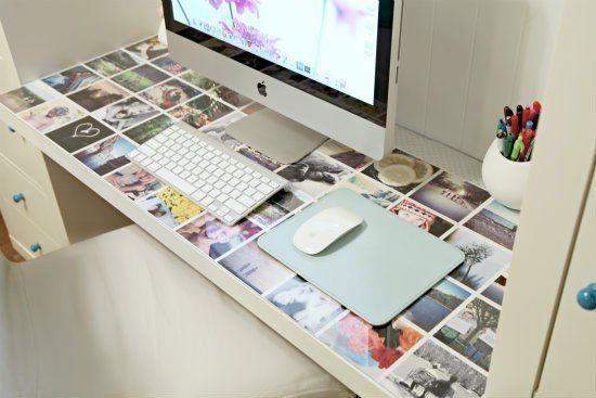 Postcards under glass- could use on table instead of desk. 10 Creative Ways to Display Postcards