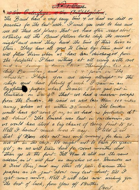 World War 1 Letters | The family, Australia and The o'jays