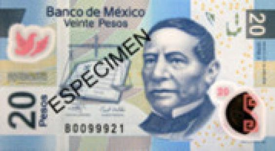 Get familiar with Mexican currency before you travel to Mexico: 20 Pesos