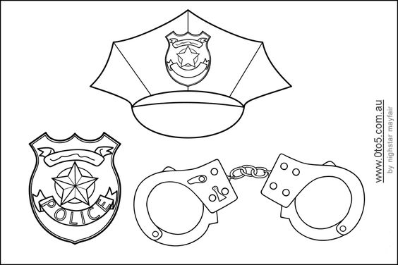 Policeman Hat Coloring Pages