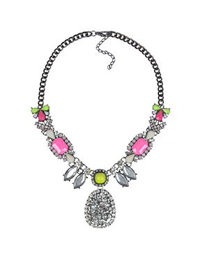 Buy Neon Melee Statement Necklace -Faballey