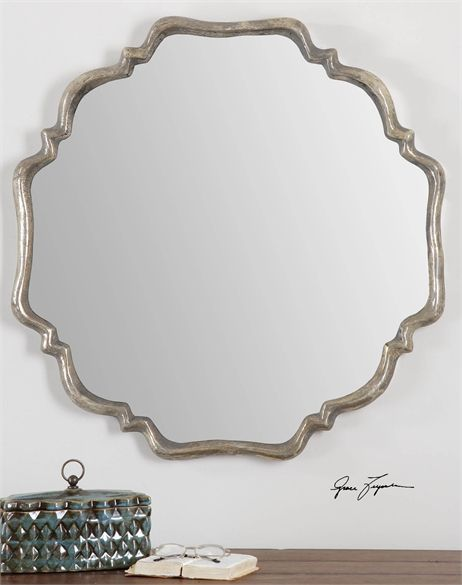 A31107 Quatrefoil Shaped Mirror 33Wx33Hx2D