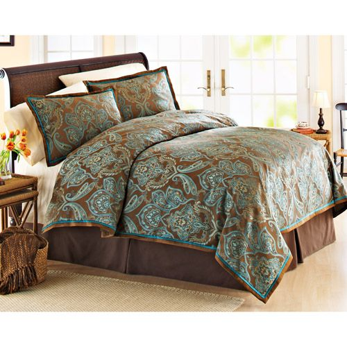 Sultan by Daniadown turquoise and brown bedding Turquoise