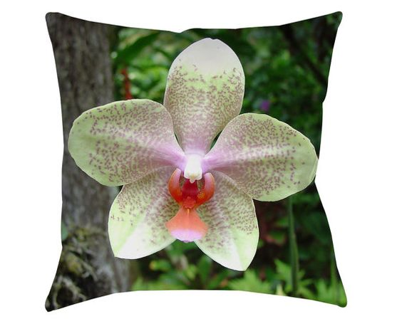 THROW PILLOWS, FLORAL, Pillows, Flowers, Home Decor, Orchid, Pillow, Green, Lavender, Pink, Botanical, Tropical, Flora, Flower, Decor, Photo