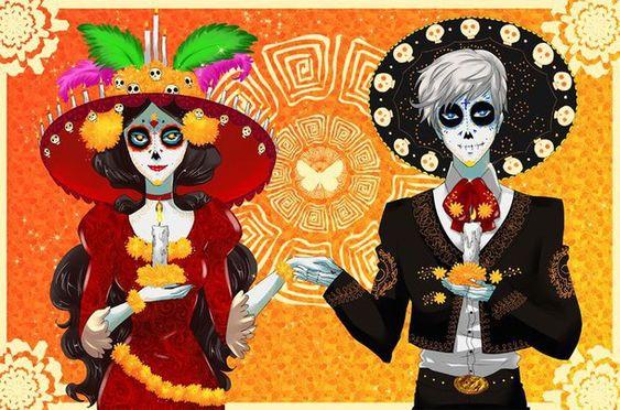 colours, day of the dead, dia de los muertos, dibujos, draw, colores \u200b