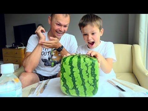 Zmeya I Kvadratnyj Arbuz I Malchiki Protiv Devochek Challenge V Tokio 2018 Youtube Watermelon Katy Challenges