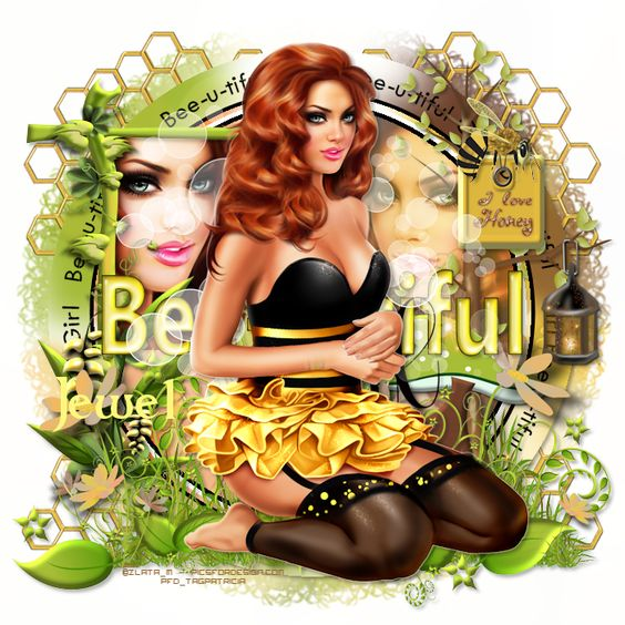 Délire2scrap Tutorials: FTU - Bee-U-tiful Girl