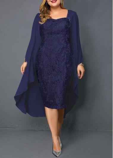 42++ Navy blue lace dress plus size information