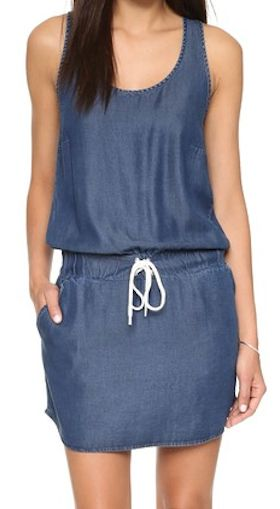 darling denim drop-waist dress