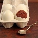 great Easter treat--brownies cooked in egg shells!