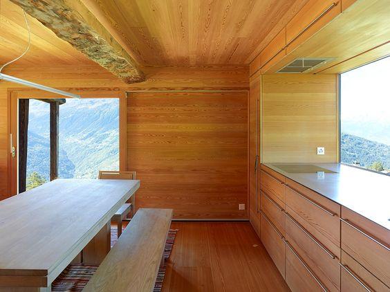 Maison de bois en Suisse