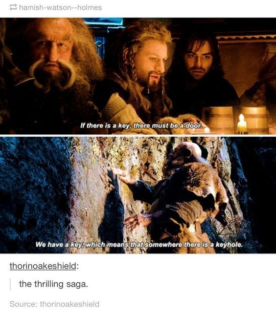"Going with Tolkien's original title, The Hobbit: 12 Dwarves Learning About How Keys Work. | 17 Jokes Only ""Lord Of The Rings"" Fans Will Get"
