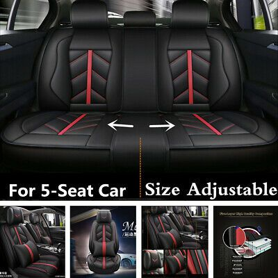 Sponsored Ebay Standard Luxury Leather 5 Seat Car Seat Cover Cushion For Interior Accessories Leather Car Seats Car Seat Cover Sets Leather Seat Covers