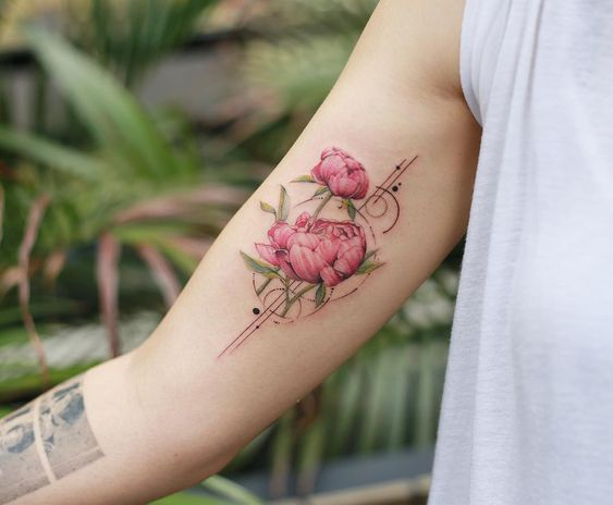 70 Tattoo Design Ideas For Girls-Click Here for Larger Image: rose tattoo; arm tattoos; wrist tattoos; forearm tattoos; flower tattoos;